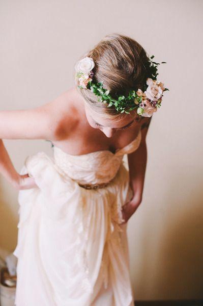 corona de flores novia vestido  bridal acessories