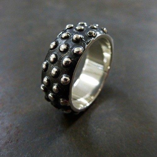 18560 - Ring 925 Sterling Zilver Geoxideerd - Studs