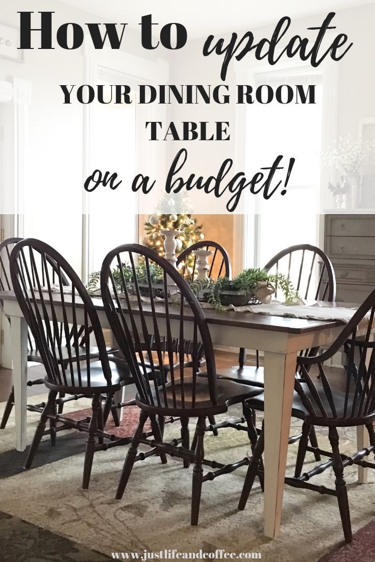 Do You Want To Update Your Dining Room Table But Can T Afford A New One Check Out My Super Simple Tutorial On How