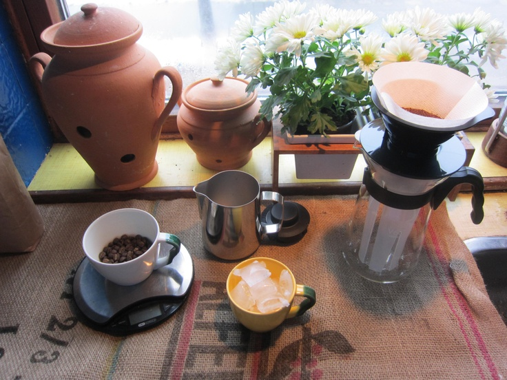 Ready to make Ice coffee with Hario´s Ice Coffee Maker