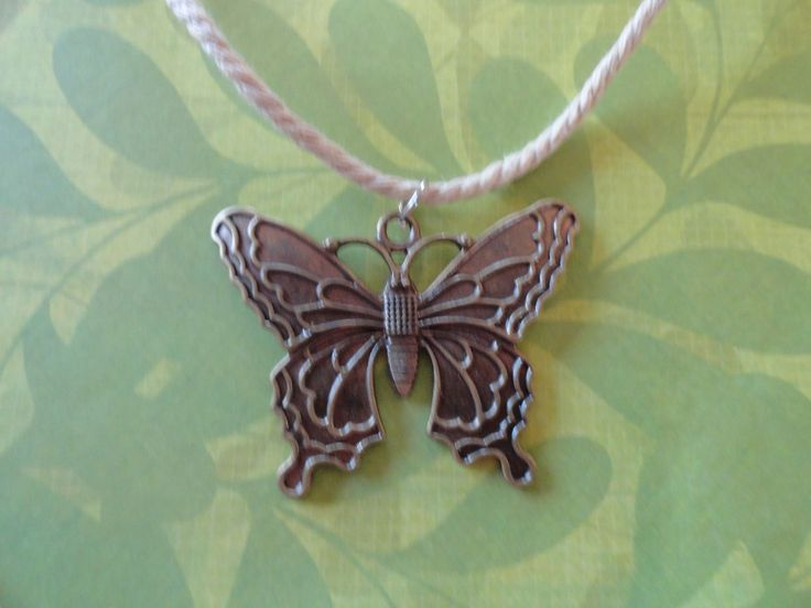 Butterfly burnished antque gold pendent 50% OFF