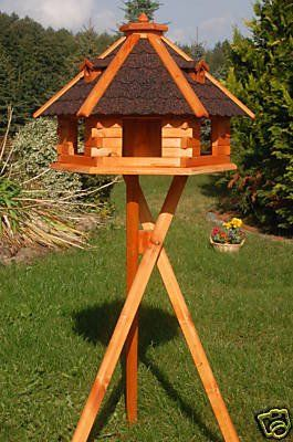 Riesiges XXL Vogelhaus, Futterhaus 67 x 45 cm impräg.mit Ständer: Amazon.de: Haustier