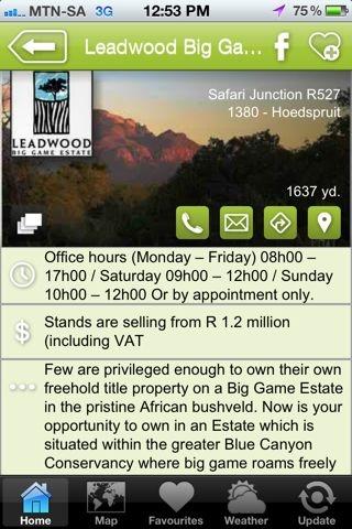 """Leadwood Estates is a hAPPy development - a """"Properties & Developments"""" listing on the Hoedspruit Info App"""