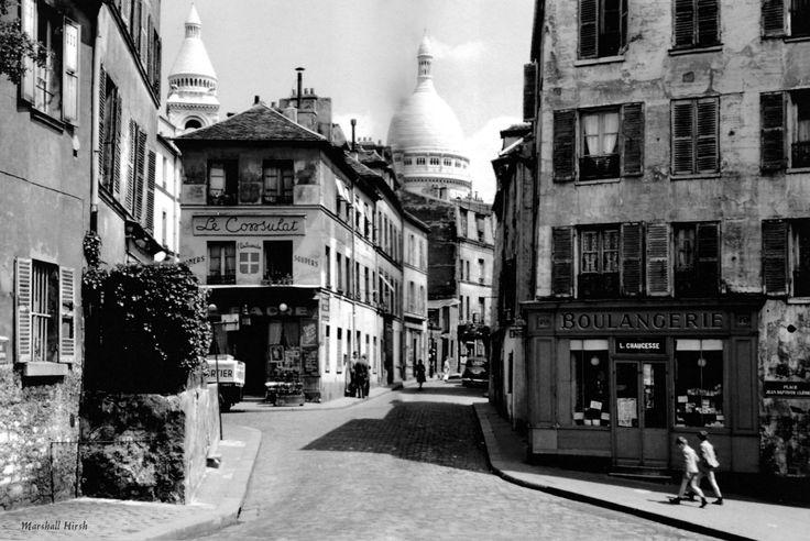 Montmartre - Rue Norvins, #Paris 1951