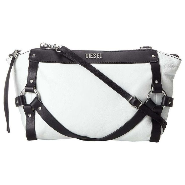 Diesel Women's Shibari Leather 'Betty Cage' Clutch Cross Body Bag Purse NWT $220 #Diesel #Clutch