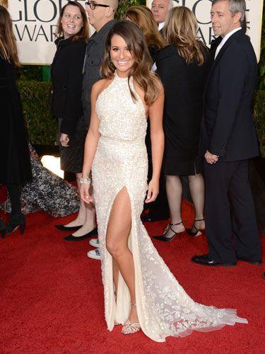 Love Lea Michele's Elie Saab dress! #GoldenGlobes