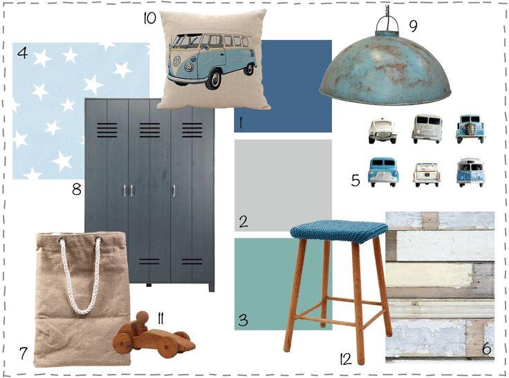 10 beste idee n over stoere jongens slaapkamers op pinterest jongenskamers en jongens - Blauwe en grijze jongens kamer ...