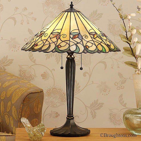 Beautiful Interiors 1900 Jamelia Large Tiffany Table Lamp