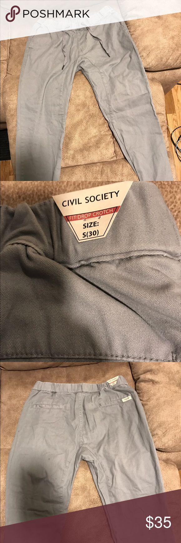Men's pants civil society size 30 Grey civil society men's pants. Size 30 brand new never worn. Civil Society Pants