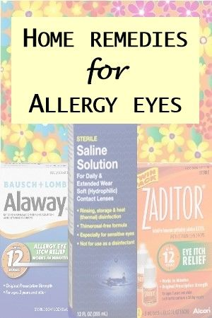 Allergy eyes are red, itchy and uncomfortable. Some simple home treatments and over-the-counter products can help bring relief and save you money.