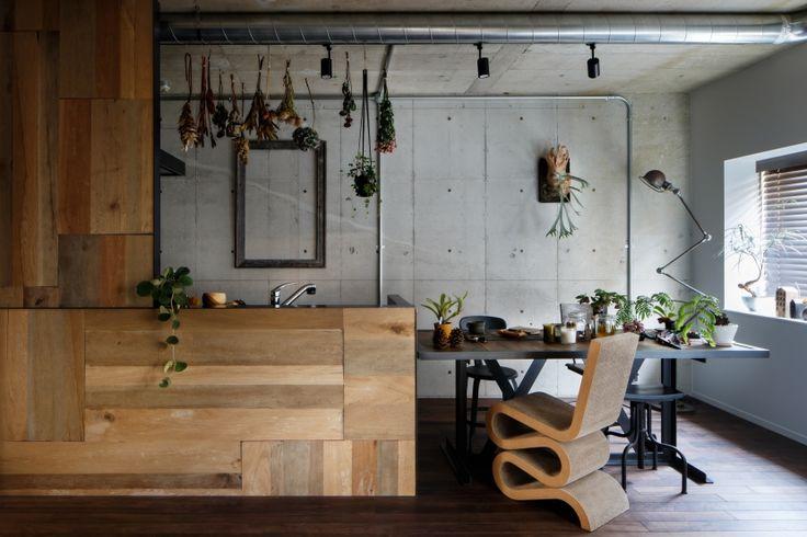 キッチン事例:キッチン(ヴィンテージもモダンもなじむ、ニュートラルな空間)