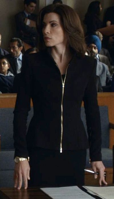The Good Wife Season 5 Outfits, Explained by Costume Designer Daniel Lawson - Season 5, Episode 8: L'Agence Suit with Alexander McQueen Pencil Skirt from #InStyle