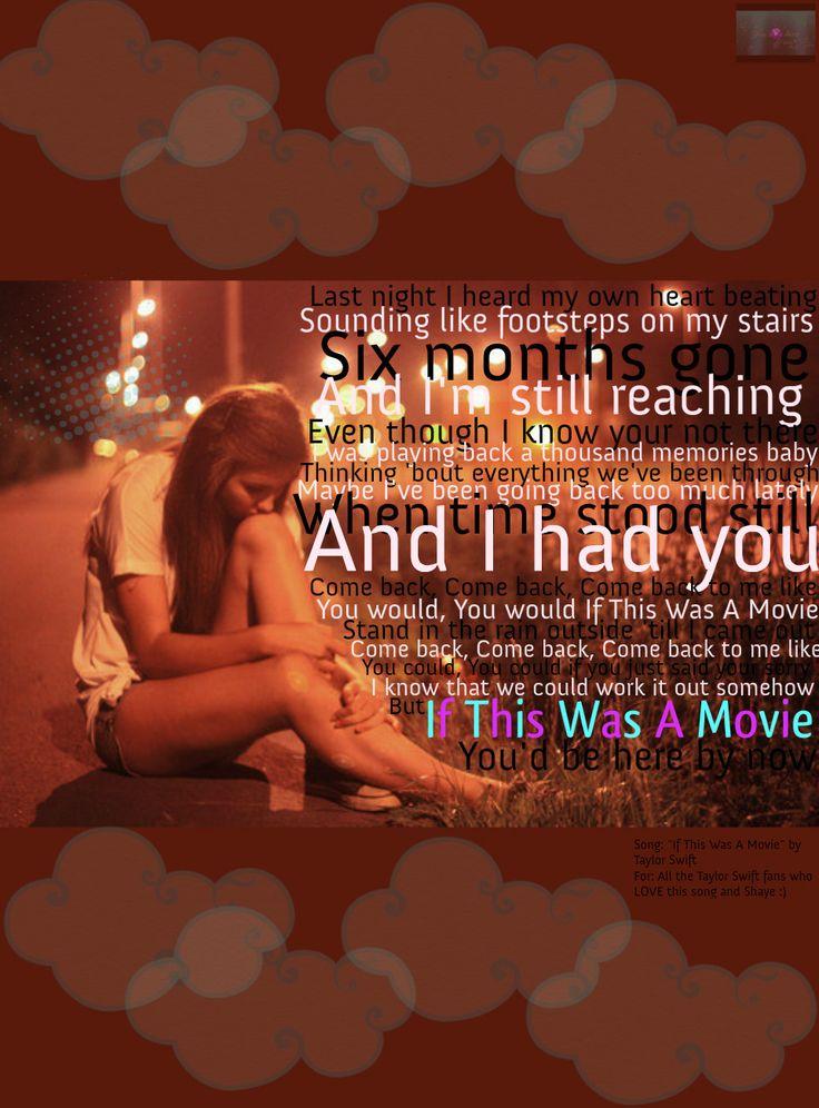 Taylor swift if this was a movie lyrics karaoke