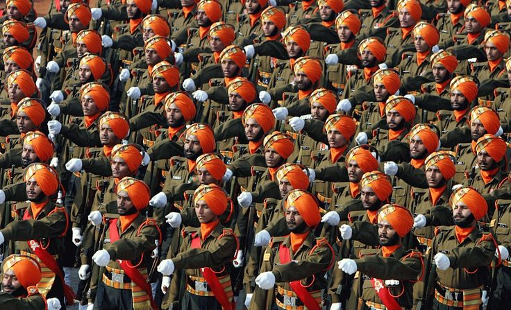 A Skih battaliaon of the Indian Army photographed by an Indian Army military photographer