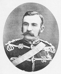 Major-General Sir George Arthur French, KCMG (19 June 1841 – 7 July 1921) served as the first Commissioner of the North-West Mounted Police. French was appointed to organize the NWMP (North-West Mounted Police) on its creation in 1873, and the next year he led the force on its famous march to the foothills of the Rockies.