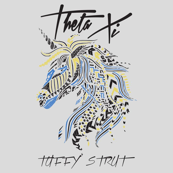 Theta Xi Tuffy Strut design by College Hill Custom Threads sorority and fraternity greek apparel and products //