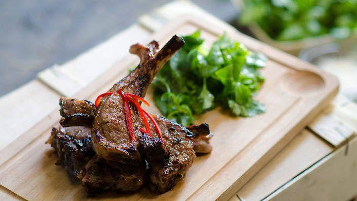 Vietnamese Chargrilled saltmarsh lamb (agneau de pré-salé au grill) by Luke Nguyen via SBS Food