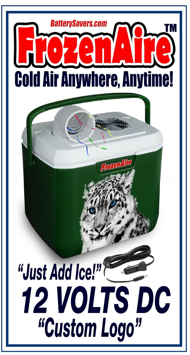 FrozenAire Battery Air Conditioner  - Green Color - Battery Powered - 12 Volts DC