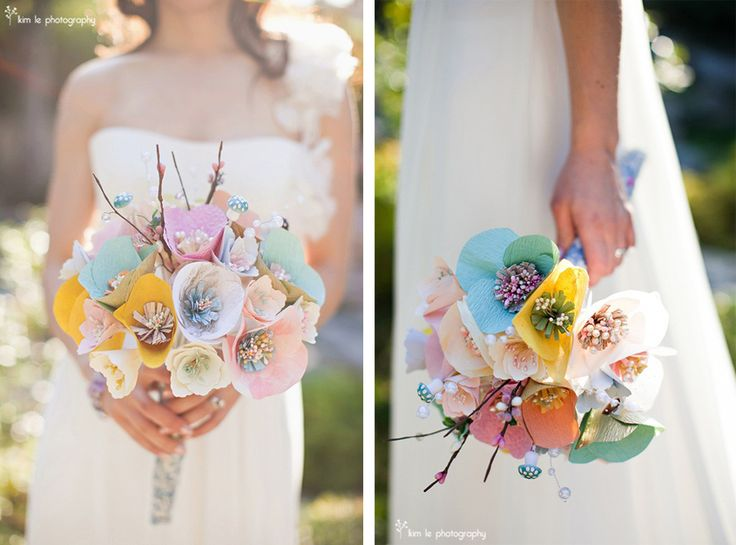 Wedding Paper Bouquet Of Flowers : Beautiful paper flowers wedding bouquet bouquets