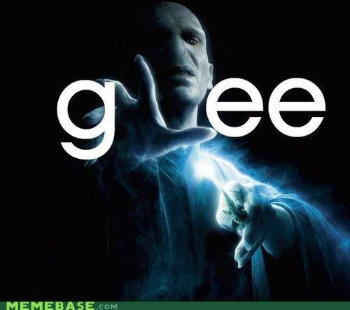 Voldemort's reaction to not being allowed on Glee