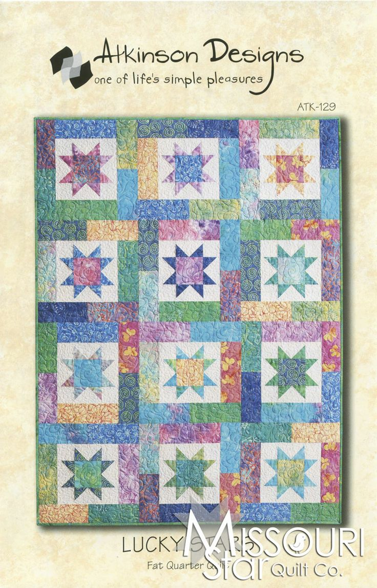 Quilt Patterns For 20 Fat Quarters : 30 best images about Fat Quarter Friendly Quilt on Pinterest Fat quarters, Lucky star and ...