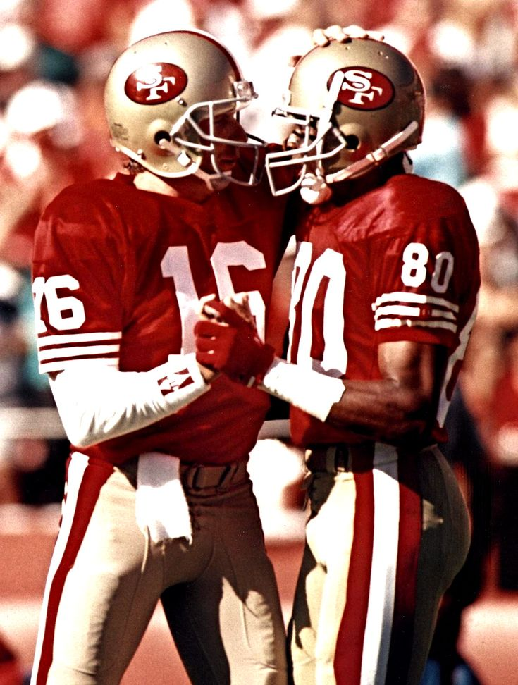 Joe Montana & Jerry Rice One of the Best if not the Best QB WR combos in Football