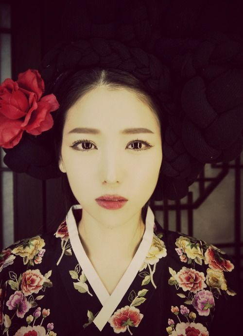 Korean hanbok & braided hairstyle