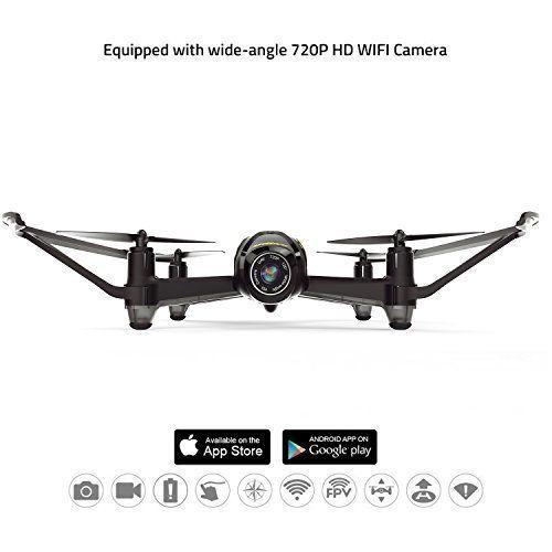 Camera Drone HD WiFi FPV Headless Mode Battery Alarm Altitude Hold Wide Angle  #CameraDrone