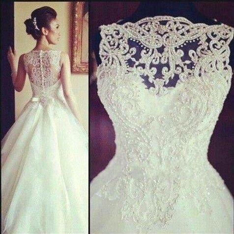 New White/Ivory A-Line Wedding Dresses Custom Size 2-4-6-8-10-12-14-16-18-20+++