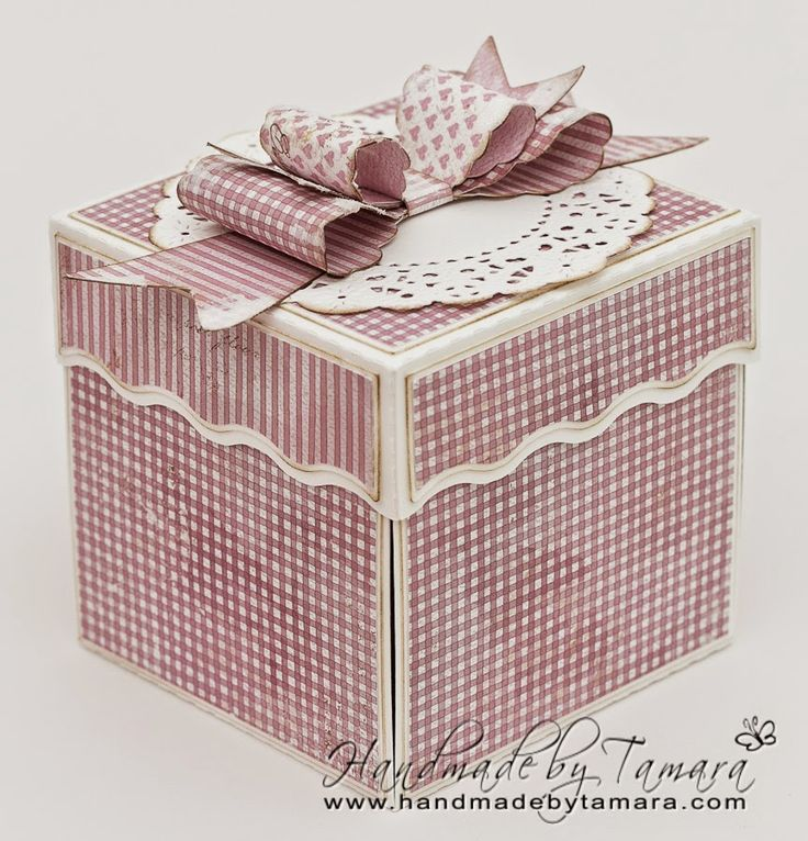 Handmade by Tamara: ❤ Pink and girly explosion box ❤