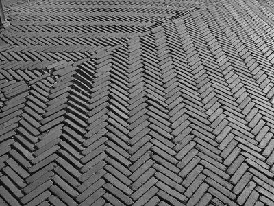 Textures on the public ground: Dutch pavement in Delft, The Netherlands 2008,Luz_image-phd