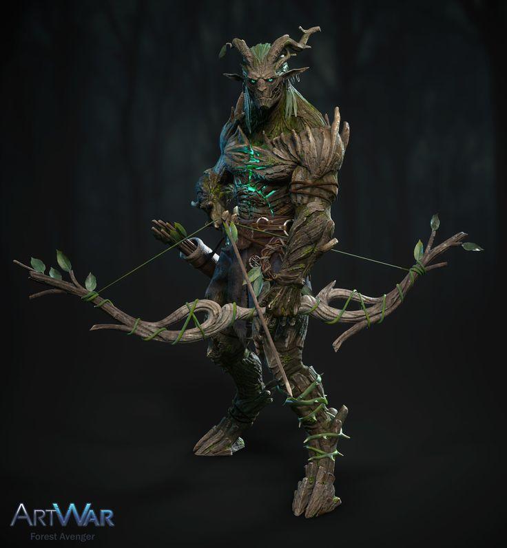 Forest Avenger, Nikita Kuzmichev on ArtStation at https://www.artstation.com/artwork/nLKV1