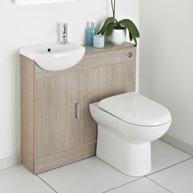 Create Valuable Storage Space With The Portland Light Oak Bathroom Furniture  Pack From Ultra