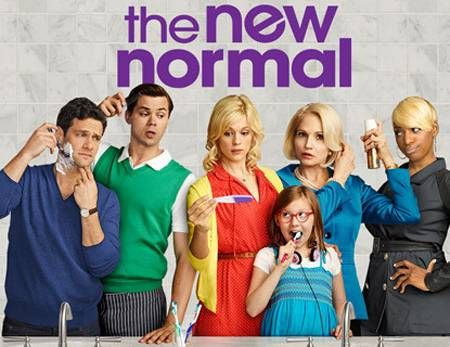 """The New Normal is a new tv show on NBC. It addresses every cultural issue in the book. Racism, sexism, homosexuality, surrogacy, teen pregnancy, single parenting, and the list goes on. Basically this show demonstrates that there is no normal. Normal is an unachievable standard set by a society who all kills themselves to be """"normal""""."""