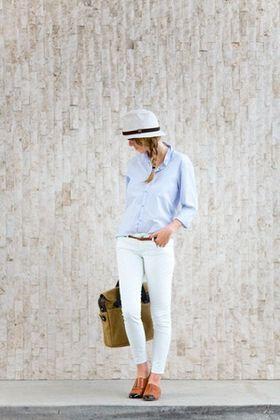 春は「白パン」♪白スキニー&白パンツのおしゃれコーデ - NAVER まとめ