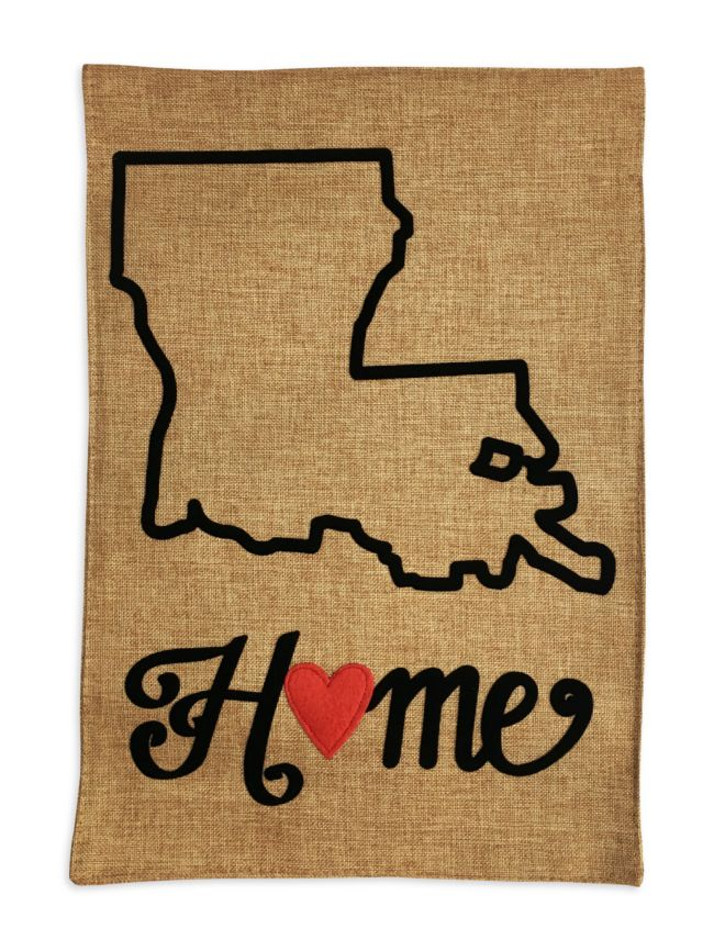 Double-sided burlap garden flag to show your #Louisiana state pride! https://www.fleurtygirl.net/louisiana-home-garden-flag.html