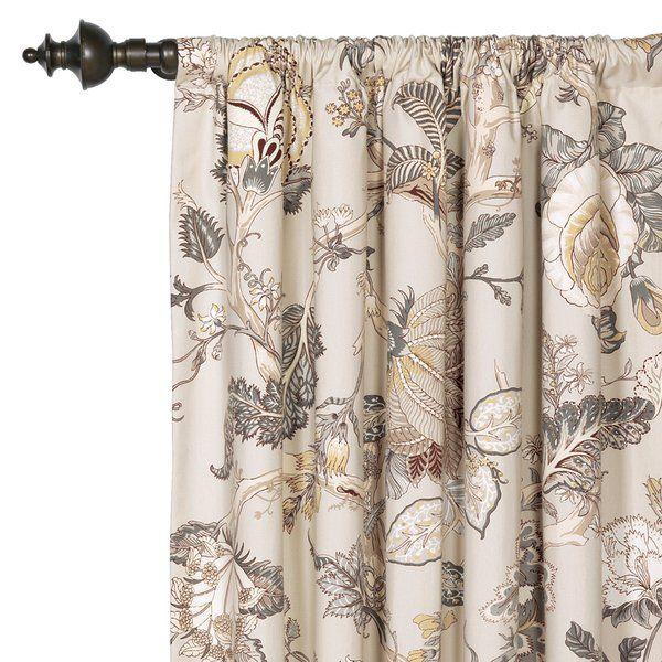 Edith Floral Room Darkening Rod Pocket Single Curtain Panel En 2021 Styles De Rideaux Decoration Rideaux