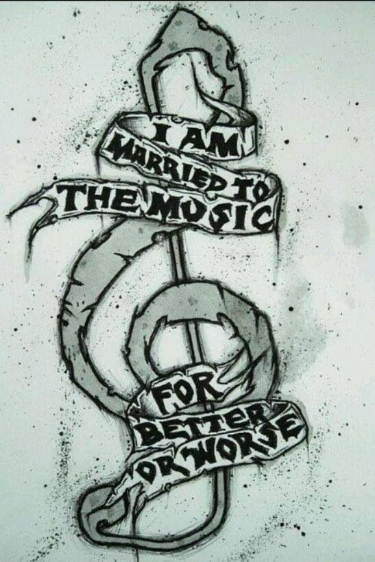 I'm married to the music