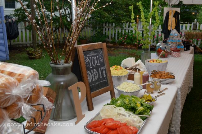 Graduation+Display+Table | The menu was created by the graduate….his favorite things: grilled ...
