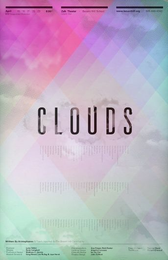 Clifford Design / Illustration / Photography Clouds Poster in Layouts+Grids