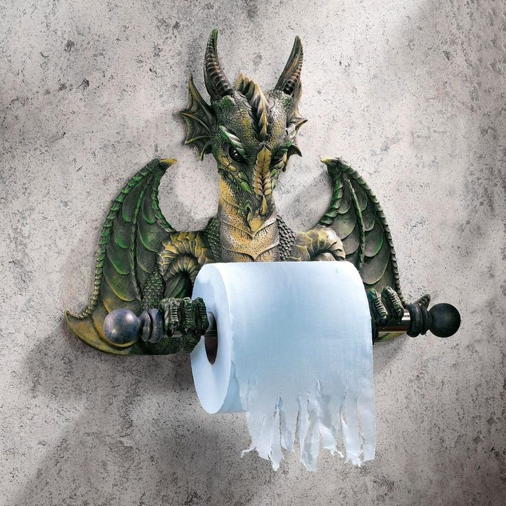 Dragon Toilet Paper Holder - tottaly wicked! #dragon #toilet DragonClothing.net