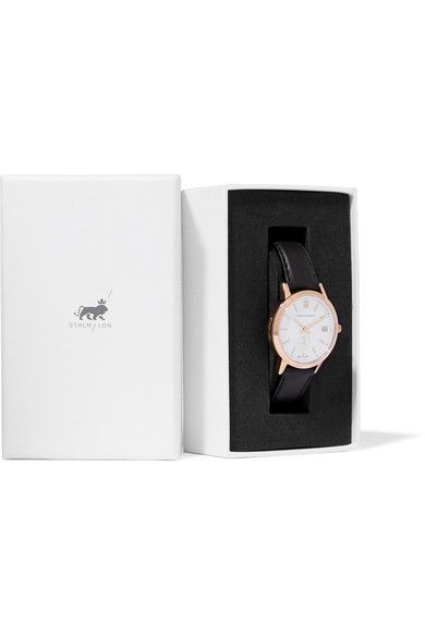 Larsson & Jennings - Saxon Leather And Rose Gold-plated Watch - One size