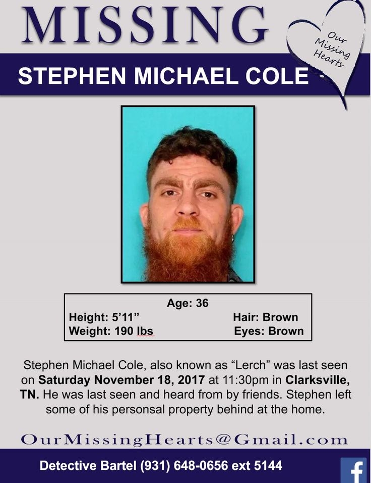Find Missing Stephen Michael Cole!