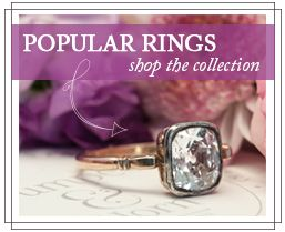 Victorian Antique Diamond Engagement Ring | Old Mine Cut Diamond Ring | Petersburg