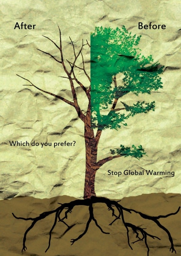Global Warming Posters (18) Problem Policy Speech. This is a persuasive image showing what could happen if nothing is done about Global Warming.
