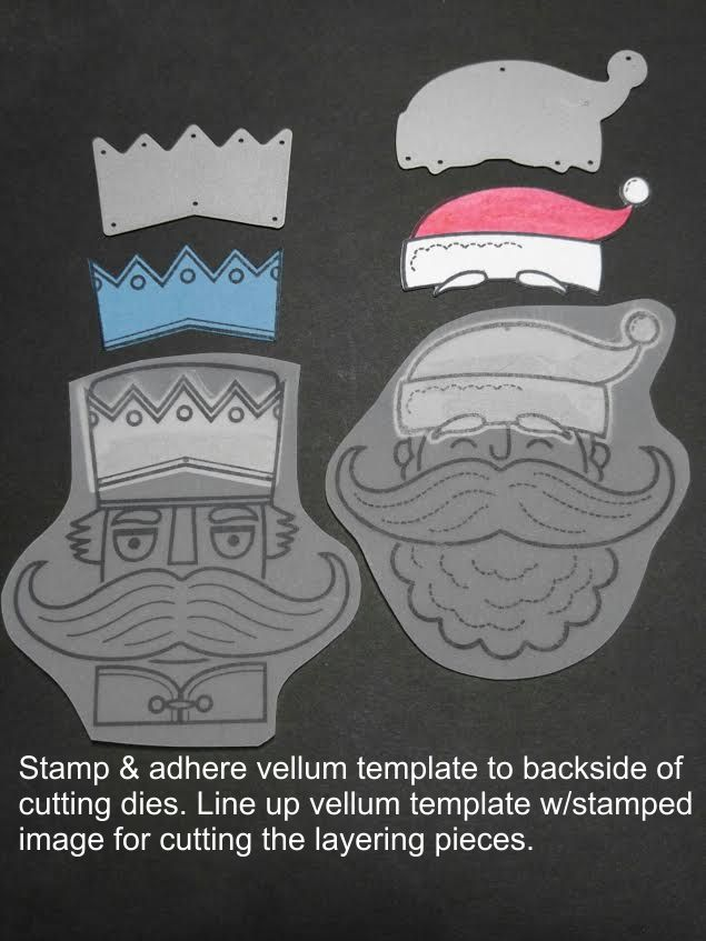 Holiday Stache nesting template for dies.