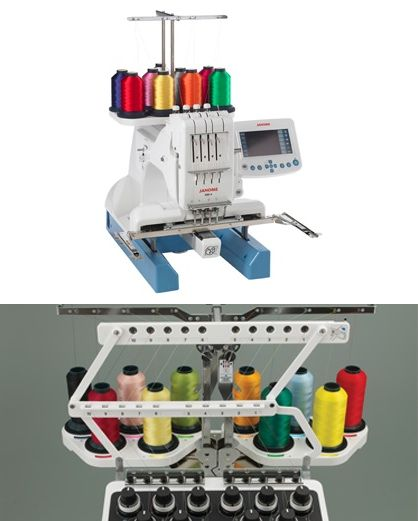 Determining which type of embroidery machine is best for your needs.  Single needle versus multi-needle.
