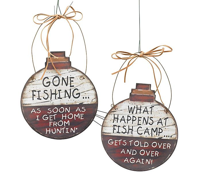"Give these Fishing Wall Hangers to dad for Father's Day so he can hang them up in his ""Man Room!"" #burtonandburton #fathers_day"