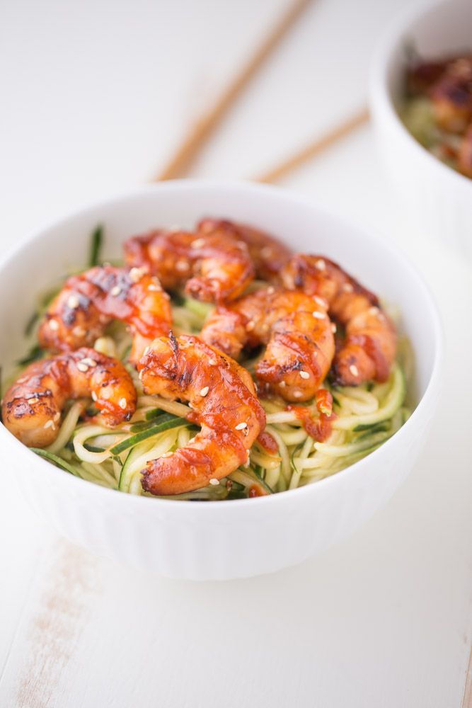Cucumber Noodle Bowls With Sesame Shrimp Small Green Kitchen