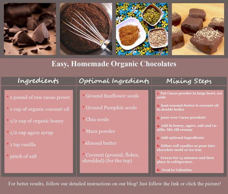 Organic Valentines Day Chocolates